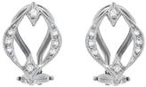 Cathy Waterman Open Marquise Diamond Earrings