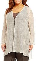 Eileen Fisher Plus V-Neck Long Jacket