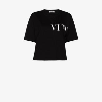 Valentino VLTN logo cropped T-shirt