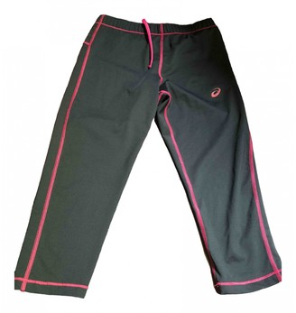Asics Black Synthetic Trousers