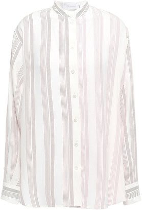 Victoria Beckham Striped Silk Shirt