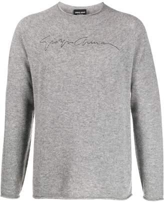 Giorgio Armani cashmere signature logo jumper