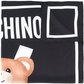 Moschino bear print scarf - women - Silk - One Size