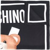Moschino bear print scarf