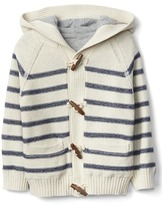 Gap Stripe lined toggled sweater
