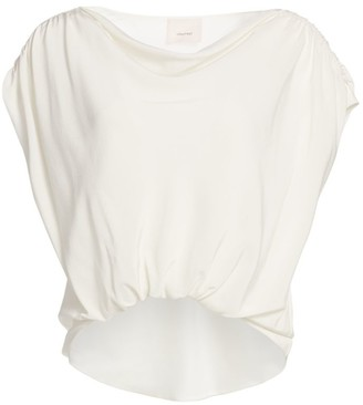 Cinq à Sept Adriana Silk Drapey Cap Sleeve Top