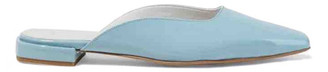 Iris & Ink Turquoise Patent leather Ballet flats