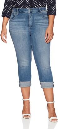 Lucky Brand Women's Plus Size HIGH Rise Emma Crop Jean in Sunbeam 14W