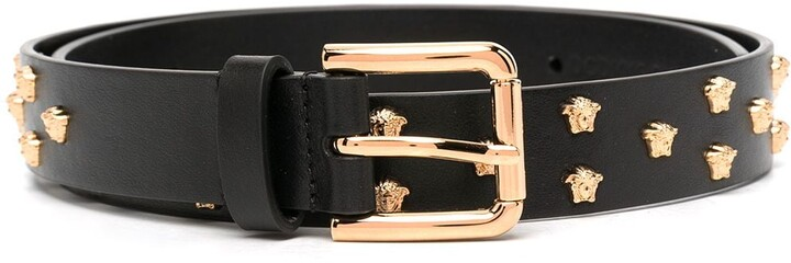 Thumbnail for your product : Versace Medusa stud leather belt