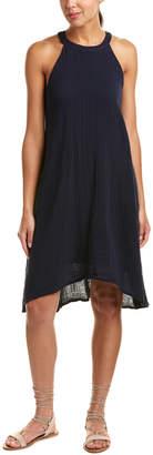 Three Dots Cut-Away High-Low Shift Dress