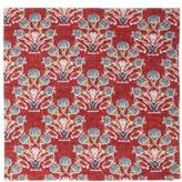 D'Ascoli Set Of Four Symryna Cotton Napkins - Red Print