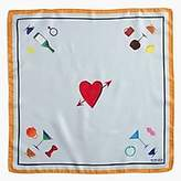 J.Crew Paul FeigTM for silk pocket square in heart print