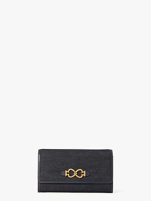 Kate Spade Toujours Denim Chain Clutch