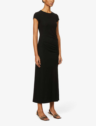 Reformation Brecken split-side stretch-jersey midi dress