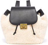 UGG Women's Vivienne Sheepskin Backpack Black and Natural