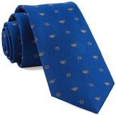 The Tie Bar Royal Blue Menorahs Tie