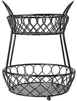 Mikasa Loop & Lattice 2-Tier Countertop Wire Basket