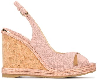 Jimmy Choo Amely 105mm wedge sandals