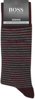 BOSS Marc striped stretch-cotton socks
