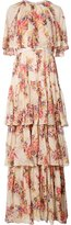Needle & Thread Praire Rose gown - women - Viscose/Metallic Fibre - 2