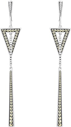 Lagos Signature Caviar Two-Tone Triangle & Circle Drop Earrings