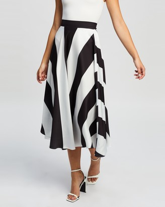 Atmos & Here Atmos&Here - Women's Black Midi Skirts - Emery Skirt - Size 6 at The Iconic