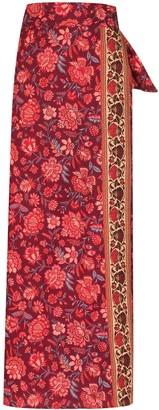 BOTEH Petra floral-print wrap skirt