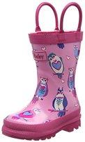Hatley Happy Owl Rainboot, Girls' Rain Boots, Pink (Pink), (20 EU)