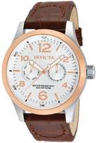 Invicta Men's 13010 I-Force Textured Dial Brown Leather Watch