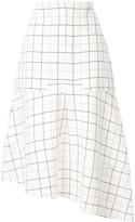 Tibi midi check skirt