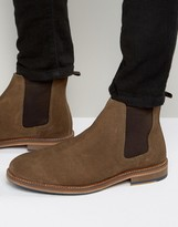 Asos Chelsea Boots In Tan Suede With Natural Sole