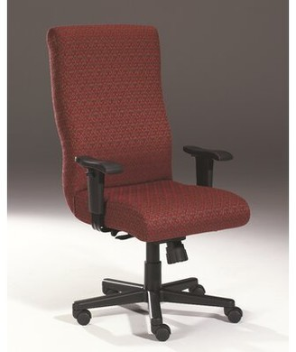 Triune Business Furniture Task Chair Upholstery Color: Cordovan, Frame Finish: Mahogany, Tilt Mechanism: Tilt Lock Included