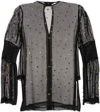 Kitx Carbon Galaxy studded blouse