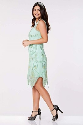 Gatsbylady London Emma Flapper Dress in Mint
