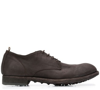 Officine Creative Suede Lace-Up Derby Shoes
