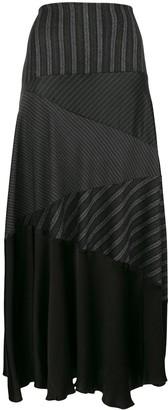 Romeo Gigli Pre Owned Stripe Flared Midi Skirt