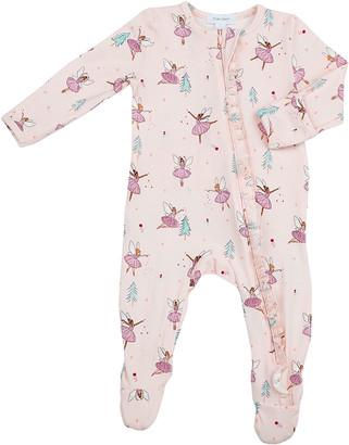 Angel Dear Girl's Sugarplum Fairies Ruffle Zip-Up Pajamas, Size Newborn-24M