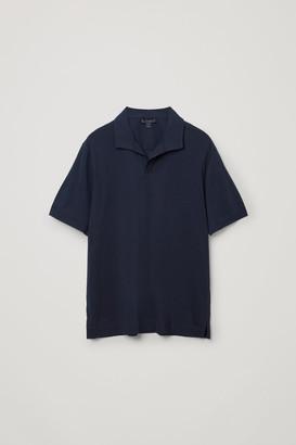 Cos Open Collar Cotton Polo Shirt