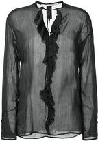 Isabel Benenato ruffled longsleeved blouse - women - Silk/Cotton - 36