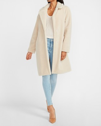 Express Cozy Long Sherpa Coat