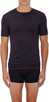 Zimmerli Men's Jersey Crewneck T-Shirt-BLACK