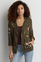 American Eagle Outfitters AE Embroidered Anorak Jacket