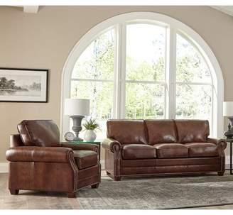 17 Stories Lyndsey 2 Piece Leather Living Room Set 17 Stories Upholstery Color: Distressed Gray