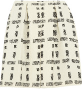 Fendi Pleated wool-blend bouclé skirt