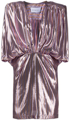 NERVI Chloe metallic-print dress