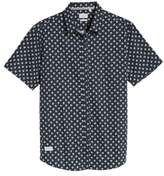 7 Diamonds 'Crossfire' Floral Print Short Sleeve Woven Shirt