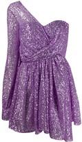 Amen one-shoulder sequinned mini dress