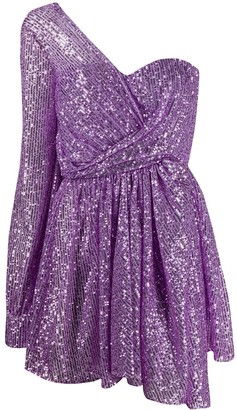 Amen One-Shoulder Sequinned Mini Dress