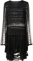 Jason Wu sheer panelled pleated dress - women - Silk - 4