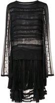Jason Wu sheer panelled pleated dress